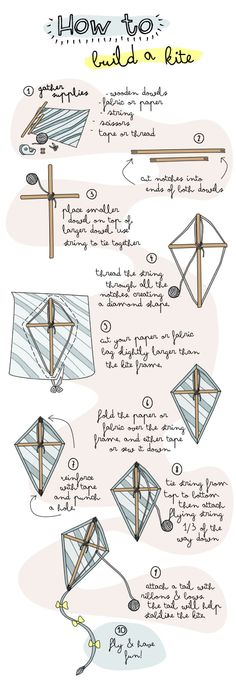How to Build a Kite. definitely something i can see K loving to do with our future babies.