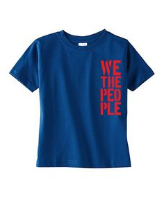 Blue & & Red 'We the People' Tee - Toddler & Boys