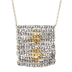 Midas Touch Silver and Gold Necklace 1