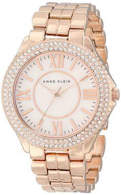 women's watches: Best gold watches for women Anne Klein Women's AK/1430RMRG Swarovski Crystal Accented Rose Gold-Tone Bracelet Watch