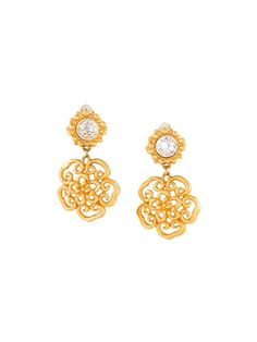 Sonia Rykiel Vintage flower clip-on earrings