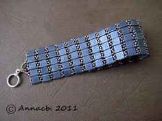 Jazzy de Sereine by Anna cb, via Flickr   #Beads #DoubleHole #Blue #Bracelet