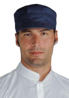 Cappello Cameriere Gelateria Creperia UomoDonna Blue Jeans e97d60842116