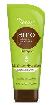 Yenzah Brazilian Beauty Authentic Macadamia Oil Maximum Hydration Shampoo 6.76 Ounce