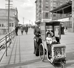 Altantic City Boardwalk Strollers (1906), new jersey, beach, shore, jersey shore, nj