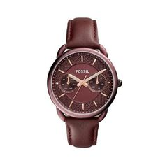 Shop for Fossil Women's Tailor Multi-Function Wine Dial Wine Leather Watch. Get free delivery On EVERYTHING* Overstock - Your Online Watches Store! Fossil Watches, Cool Watches, Analog Watches, Fossil Leather Watch, Leather Watches, Festina, Fossil Jewelry, Jewelry Watches, Perfect Boyfriend