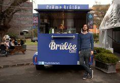 The Brûlée Cart Takes on the Trucks - Food & Drink - Broadsheet Melbourne Melbourne Food, Outdoor Food, St Kilda, The Night Before, Winter Food, Cart, Vanilla Cream, French Vanilla, Food Trucks