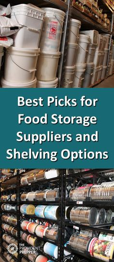 Food Storage and Storage Room Shelving – Recommended Products – The Provident Prepper food storage Food Storage and Storage Room Shelving – Recommended Products Bulk Food Storage Containers, Food Storage Rooms, Food Storage Shelves, Food Storage Organization, Dry Food Storage, Long Term Food Storage, Shelving, Storage Ideas, Organisation Ideas