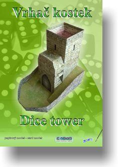 Papírový model - Vrhač kostek