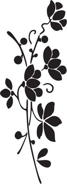 Floral 496-08 - Rubber Stamps