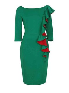 528d09a83c Falbala Round Neck Blended Bodycon Dress Stylish Dresses