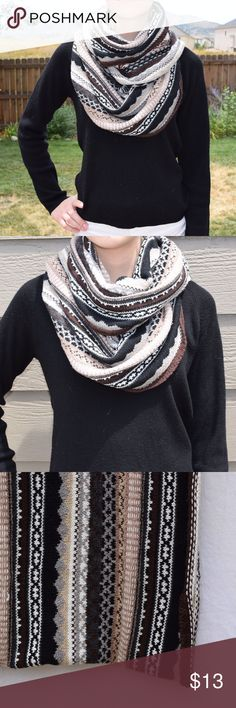 Echo Knit Infinity Scarf Echo Knit Infinity Scarf  -Like-new condition -Echo brand -Stylish striped pattern with warm, earthy colors -Thick, soft material for an extra comfortable, cozy feel Echo Accessories Scarves & Wraps