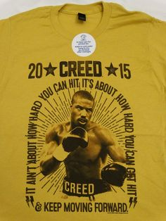 Creed Rocky Movie Keep Moving Forward T-Shirt #Rocky #GraphicTee