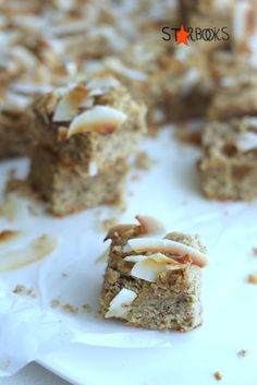 Starbooks: COCONUT AND HAZELNUT SLICE