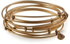 Alex and Ani Set of 7 Thick Smooth Bangles