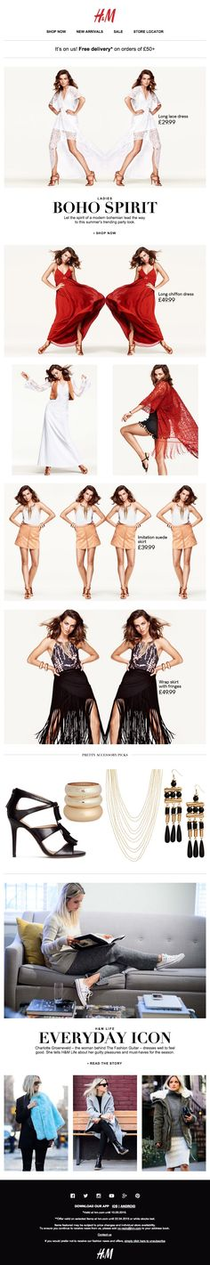 H&M Fashion News – Summer's bohemian spirit - Inspiring newsletters