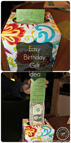 Use a tissue box to make pop-up money dispenser for gift