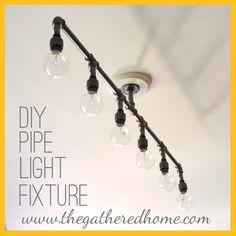 How To Make A Fabulous Plumbing Pipe Light Fixture!