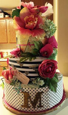 Kate Spade inspired diaper cake:)