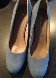 Kaufe meinen Artikel bei #Kleiderkreisel http://www.kleiderkreisel.de/damenschuhe/hohe-schuhe/129344266-highheels-pumps-von-tamaris-blau-wildleder-grosse-42
