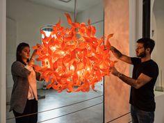 The Vecchi's, Karin and Daniel, while at The Murano Glass Museum #andromedamurano  #familycompany #muranoglassmuseum #museodelvetro #permanentinstallation   #TobiaScarpa