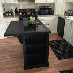 Kitchen Island With Granite Top, Narrow Kitchen Island, Portable Kitchen Island, Kitchen Island Decor, Kitchen Redo, Kitchen Styling, New Kitchen, Kitchen Remodel, Kitchen Design
