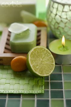 Soap, Candle, and Lime © Gregor Schuster/Corbis