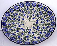 http://www.twinspolishpottery.com  Handmade Polish Pottery Plate
