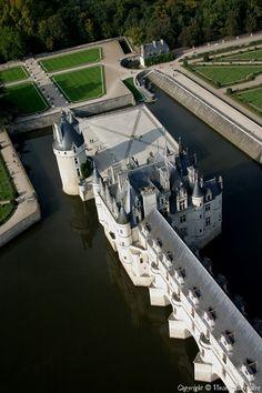 ✈️ Photo aérienne de Château de Chenonceau - Indre-et-Loire (37)