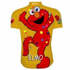 Orange Elmo Sesame Street Cycling Jersey — Men's Short Sleeve