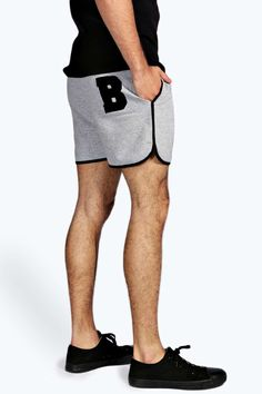 Retro Embroidered Running Shorts alternative image