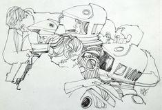 Pérola: os desenhos feitos durante as filmagens de 2001, Uma Odisseia no Espaço | IdeaFixa