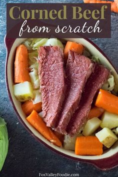 Making corned beef from scratch is easier than you think! Follow my steps to cure and cook corned beef from home, including tips on the best type of beef to purchase and spices to use. #homemade… More Homemade Corned Beef, Cooking Corned Beef, Best Beef Recipes, Slow Cooker Recipes, Boiled Vegetables, Corn Beef And Cabbage, How To Make Sausage, Delicious Dinner Recipes, Entrees