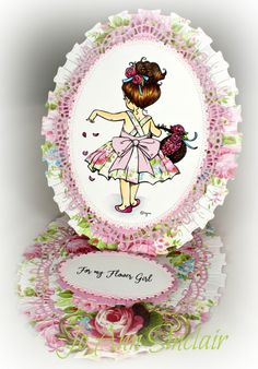 Flower Girl Wedding Day Cards, Flower Girl Photos, Mo Manning, Easel Cards, Copic Markers, Hobbies And Crafts, Paper Piecing, Stampin Up, Card Making