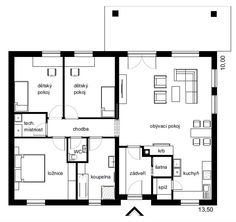 4+1 / 4 Info, Case, Bungalow, House Plans, Floor Plans, Flooring, How To Plan, Building, Projects