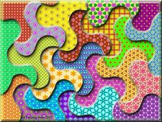 3D Twists And Turns (266 pieces) Puzzle created by Hummingbird59 Image copyright: (C) Kathy Potts 2017