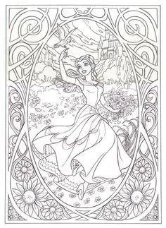 Art nouveau Belle Main page has ariel and snow white too.