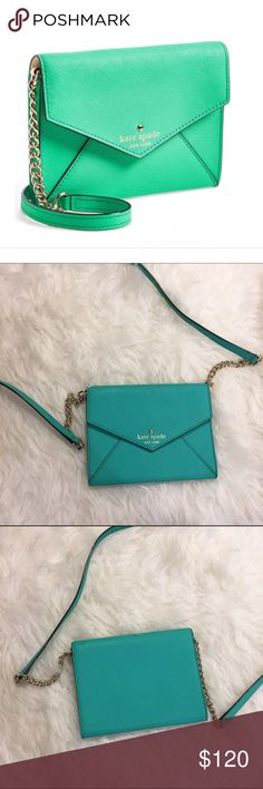 Kate Spade Crossbody NWOT Authentic Kate Spade crossbody bag. Pretty sea foam green color! Never worn! kate spade Bags Crossbody Bags