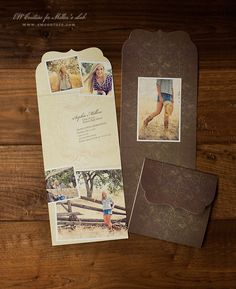 the most popular in the bundle, and my favorite - Preppy Findings Senior (Graduation)Announcements - One of a Kind 5x5 Ornate Top Folded Luxe Card - photography showcased by Amanda K Photography