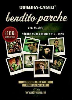 La guaracha y el sabor siguen el prox. sábado 15 de agosto, 10pm en Quiebra Canto!!! Pégate al parche!