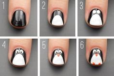 21 paso a paso que te convertirá en un experto en decoración de uñas - Uñas infantiles - Pretty Nail Art, Cute Nail Art, Easy Nail Art, Cute Nails, Pink Nail Art, New Nail Art, Stylish Nails, Trendy Nails, Penguin Nails