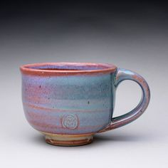 handmade ceramic mug teacup pottery cup with by rmoralespottery