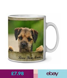 Tableware, Serving & Linen Border Terrier Puppy 'Love You Mum' Coffee/Tea Mug Christmas Stocki, Ad-Bt5Lymmg #ebay #Home & Garden