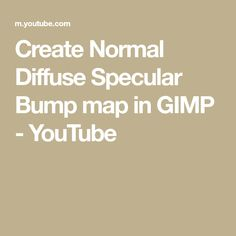 This video will guide you on how to create Normal, Diffuse, Specular and Bump map from a image texture. For Reflection map settings, I have shared a screen s.