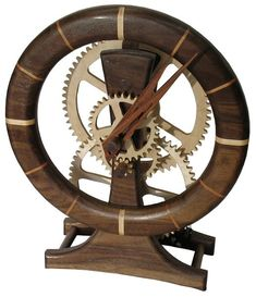 wooden clock   clock assembly clock face grooves cutting gears routing the clock face