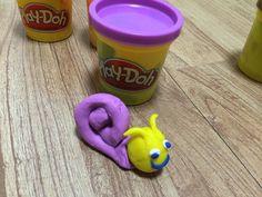 A colorful playdough snail!!!