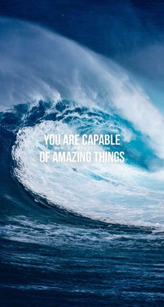 Quotes for Motivation and Inspiration QUOTATION - Image : As the quote says - Description You are capable of amazing things. Fitness Motivation Quotes, Study Motivation, Motivation Inspiration, Motivational Quotes For Working Out, Positive Quotes, Inspirational Quotes, Quote Backgrounds, Wallpaper Quotes, Surf Mar