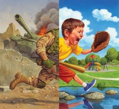 Jason Edmiston is the artist behind these awesome acrylic paintings, he has been a commerical illustrator since He is a traditional art Jason Edmiston, Peace Drawing, World Peace Day, World Art Day, Art Du Croquis, Peace Poster, Satirical Illustrations, Poster Drawing, Peace Art