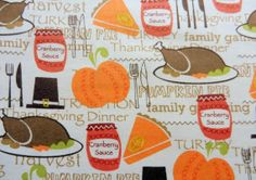 Thanksgiving fabric