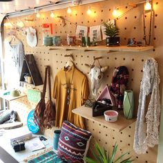 Mobile Boutique, Mobile Shop, Caravan Shop, Truck Store, Mobile Fashion Truck, Peg Wall, Office With A View, Metaphysical Store, Craft Shed